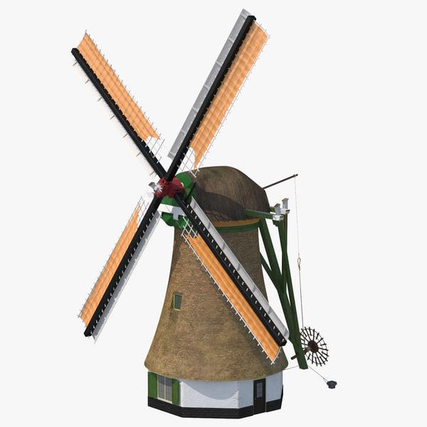 3D windmill dutch -