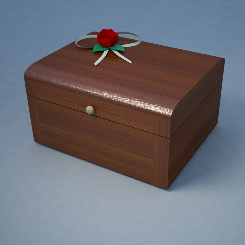 3D souvenir wooden box chest
