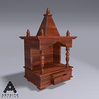 wooden temple 3D