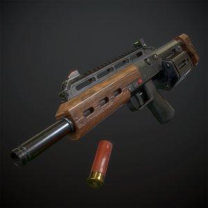 gun cylinder shell 3D model