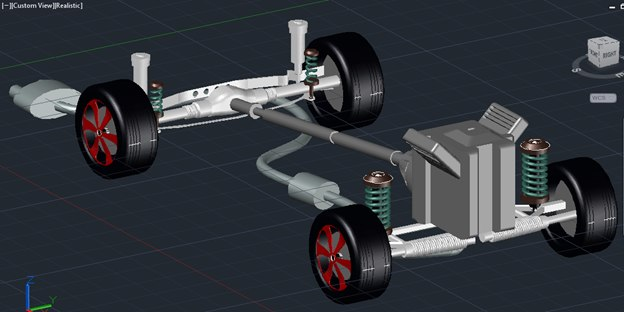 car chassis engineering model