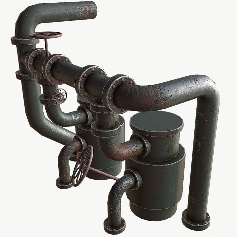 3D old pipes