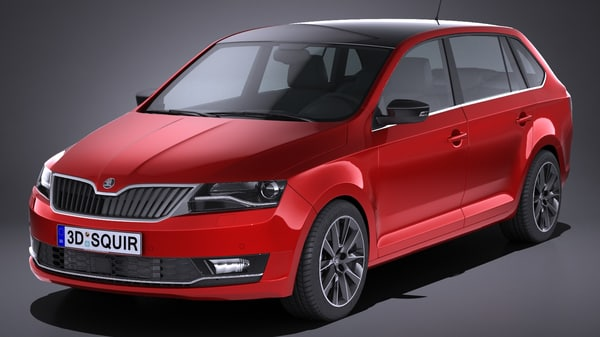 skoda rapid spaceback 3D model