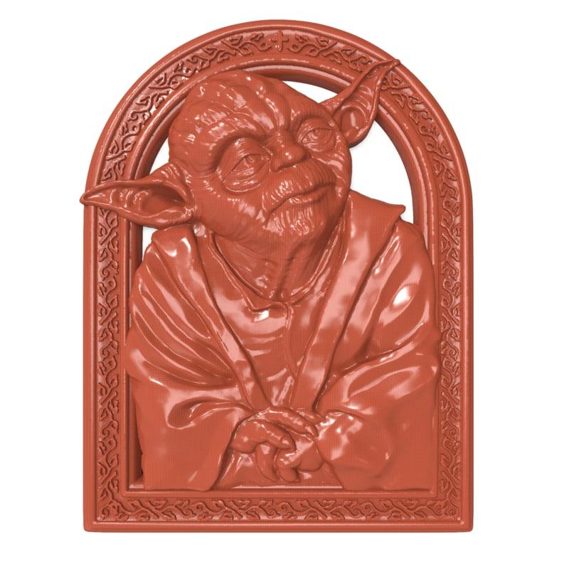 bas relief yoda 3D