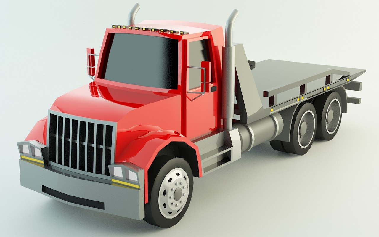 tow truck polys model