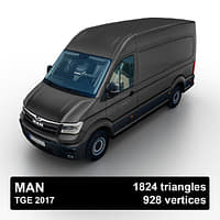 2017 man tge van 3D model