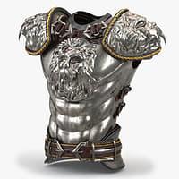 medieval boby armor 3D model