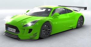3D generic sports car gt