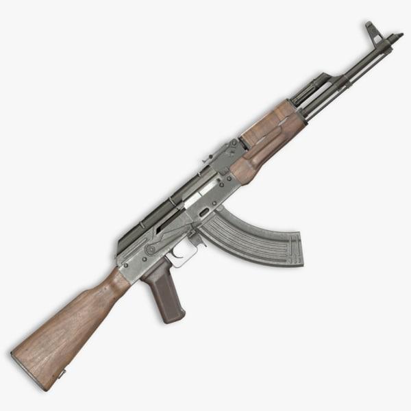 3D akm assault rifle - model