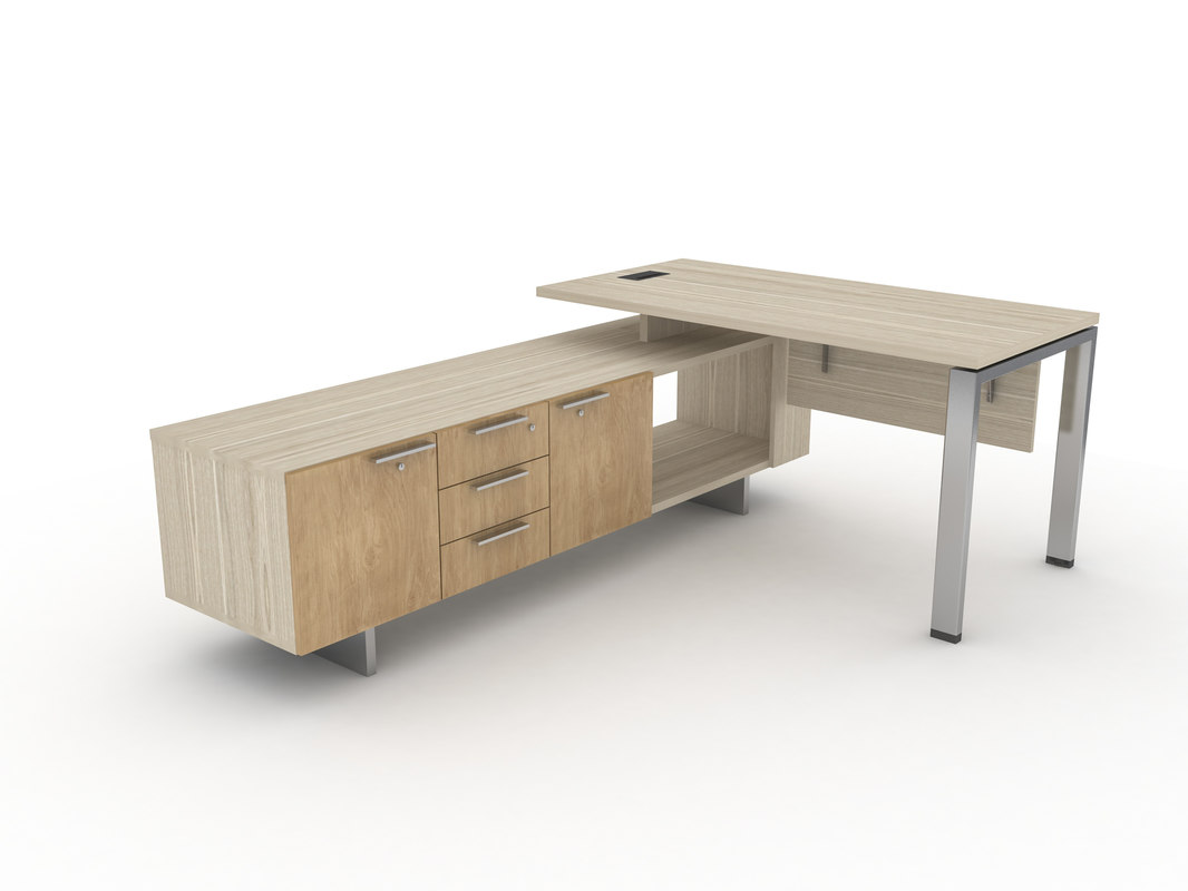 office desk workstation 3D