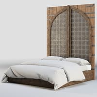 bed fortress indian 3D model