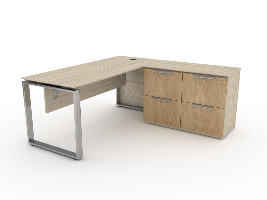 office desk 3D