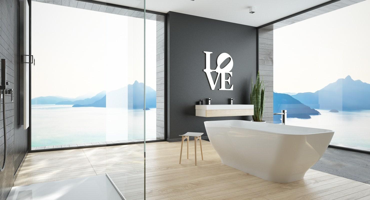 3D scene modern bathroom interior model