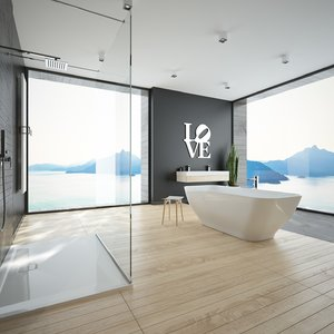 3D scene modern bathroom interior model