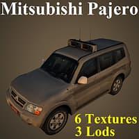 3D mitsubishi pajero