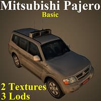 3D model mitsubishi pajero basic