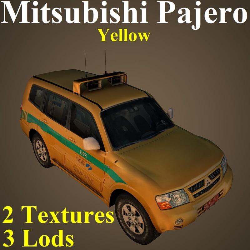 mitsubishi pajero yel 3D model