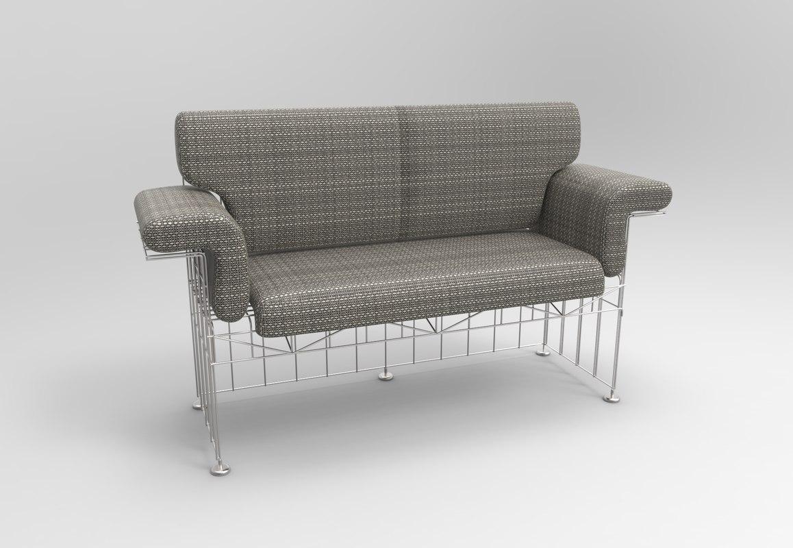 divano abitacolo munari sofa interior 3D