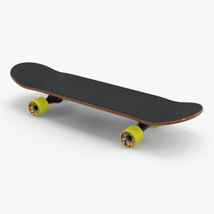 classic shape skateboard 3D model