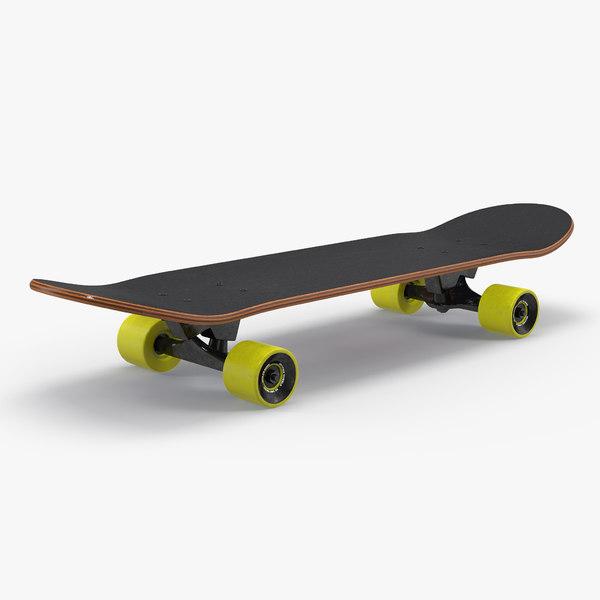 3D classic skateboard generic model