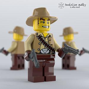 lego cowboy figure model
