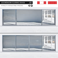 3D aluminium sliding door