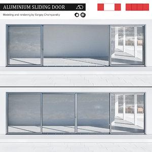 3D aluminium sliding door