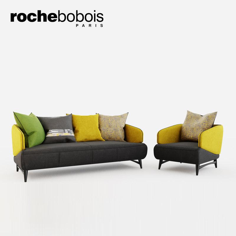 roche bobois aries seat 3D model