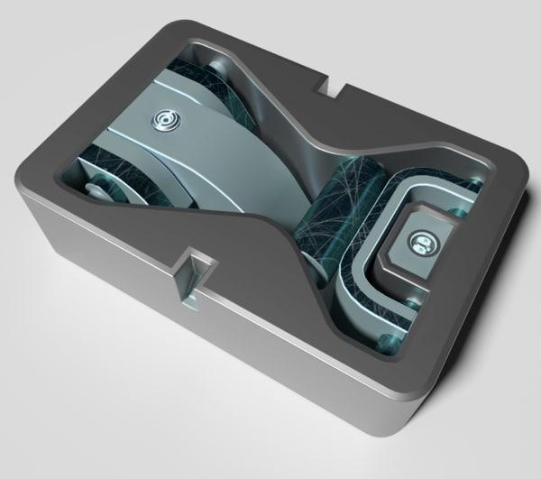 3D bolts knobs