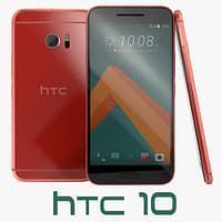 3D htc 10 camellia red model