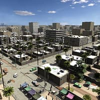 3D model urban africa middle