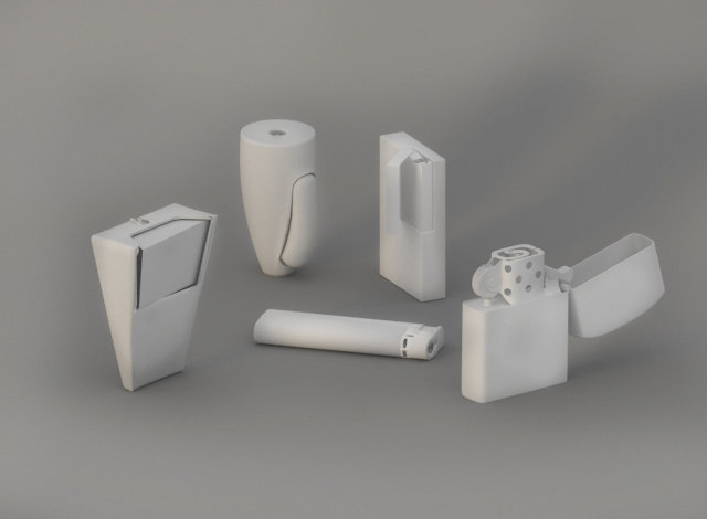 basic lighters 3D