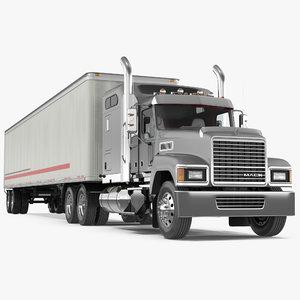 trailer truck mack chu613 model