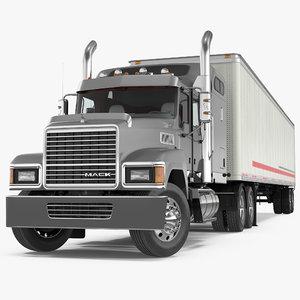 3D trailer truck mack chu613