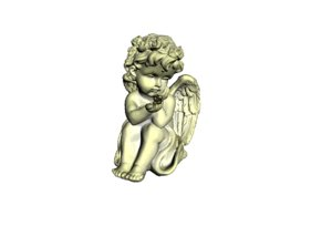3D angel statue model