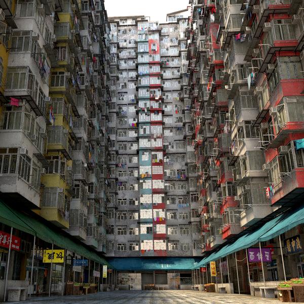 degraded residential building model