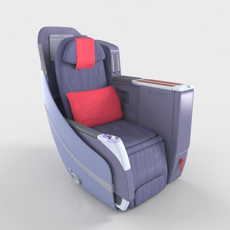 3D model seat air plane