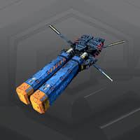 3D sf freighter 2g model