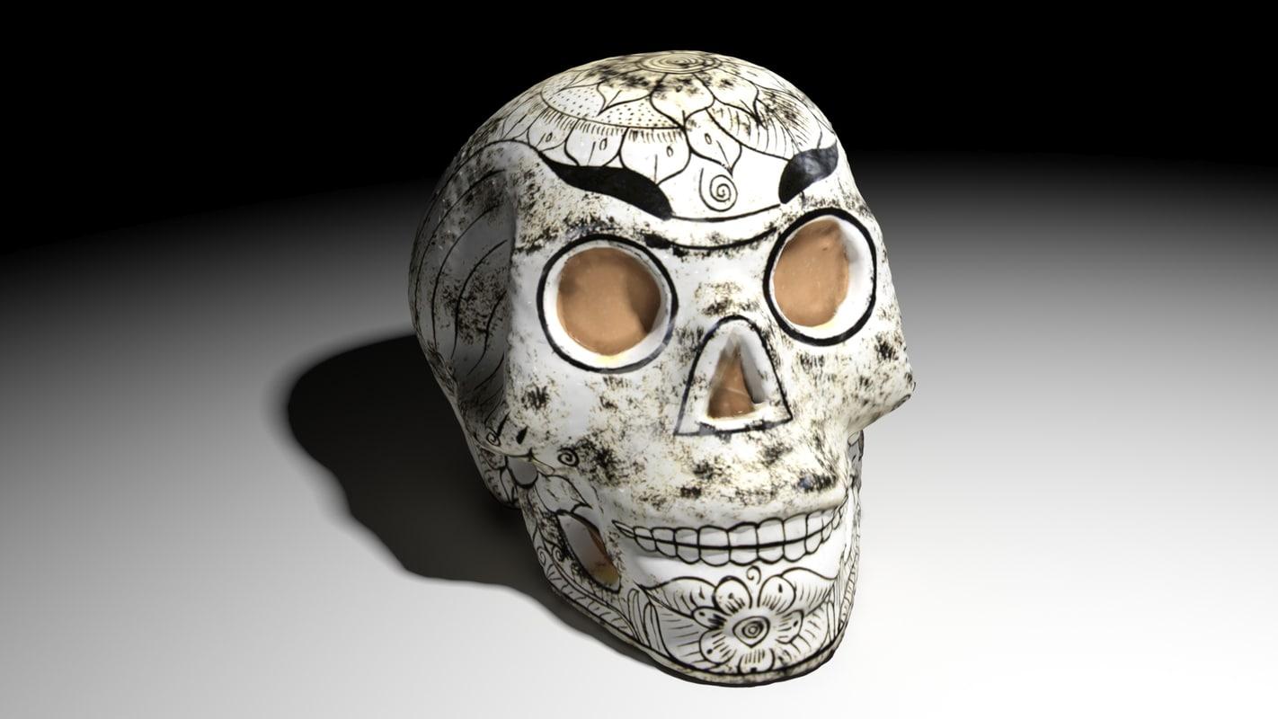 3D mexican skull