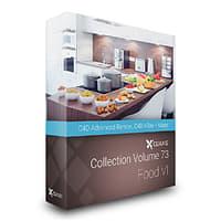3D volume 73 food vi model