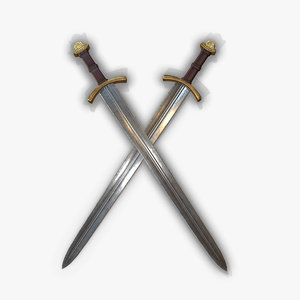 3D medieval king sword