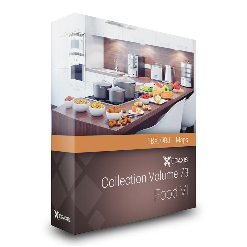 3D model volume 73 food vi