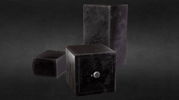 3D pbr padlock safe model
