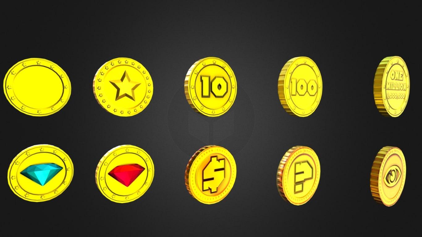 gold coins 3D