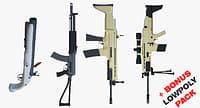 3D bonus pack pistol gun model