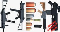 3D model bonus pack rifles shot gun