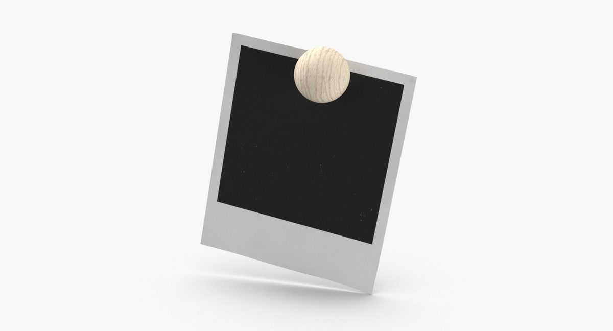 blank-picture-held-by-magnet 3D model