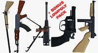 weapons bonus pack ak47 gun 3D model