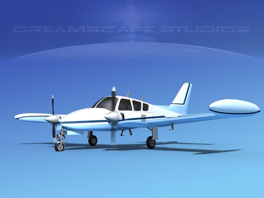cockpit cessna 320 3D