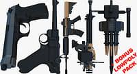3D model weapons bonus pack gun